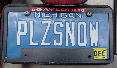 Picture of Ken's License Plate PLZSNOW